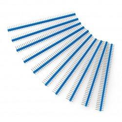 Goldpin plug 1x40 straight 2.54mm raster - blue - 10pcs.