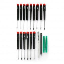 Precision screwdriver set - 19 pieces