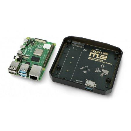 Argon ONE M.2 SATA expansion board - for Raspberry Pi 4B