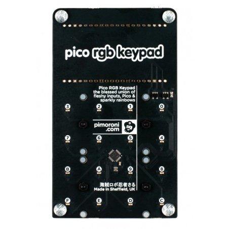 Pico RGB Keypad - backlit keyboard for Raspberry Pi Pico -