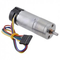 DC Motor 25Dx48L HP with 4.4:1 Gear 6V 2200RPM + encoder CPR 48