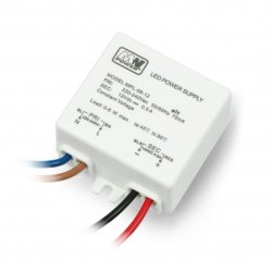 Power supply MW Power MPL-06-12 for LED strip 12V / 0,5A / 6W