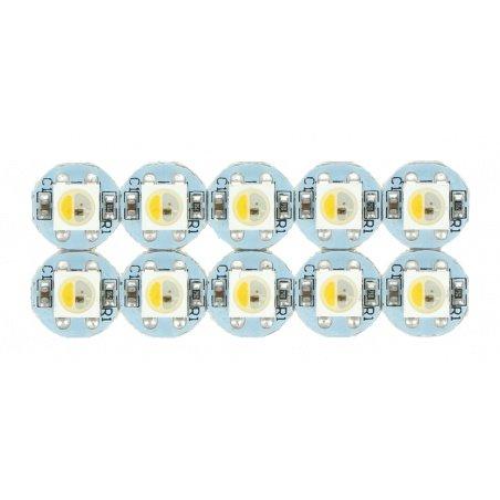 NeoPixel RGBW Mini Button PCB - SK6812 - addressable LEDs -