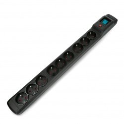 Power strip with protection Armac multi M9 black - 9 sockets -