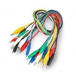 Small Alligator Clip 22AWG cables- 40cm - 12pcs