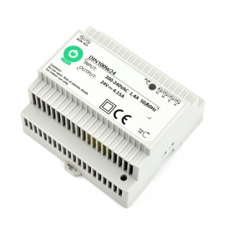 Power supply DIN100W24 for DIN rail - 24V / 4,15A / 100W