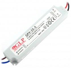 Power supply LPV-35-5 for LED strip - 5V / 5A / 25W - waterproof