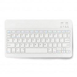 "Wireless keyboard - white 10"" - Bluetooth 3.0"