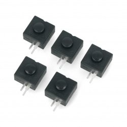 Bistable switch ON-OFF PB-12A, round 30V/1A - black - 5pcs.
