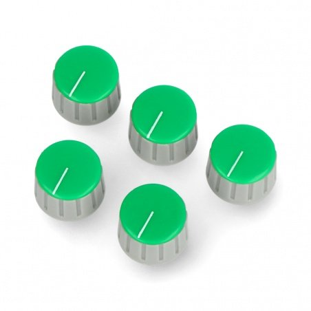 Potentiometer knob GS18 gray-green - 6/18mm - 5pcs.