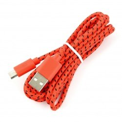 Cable microUSB B - A in red...