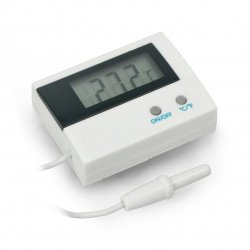 Thermometer with external...