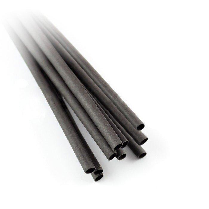 Rurka termokurczliwa 3,2/1,6 czarna - 10 szt.