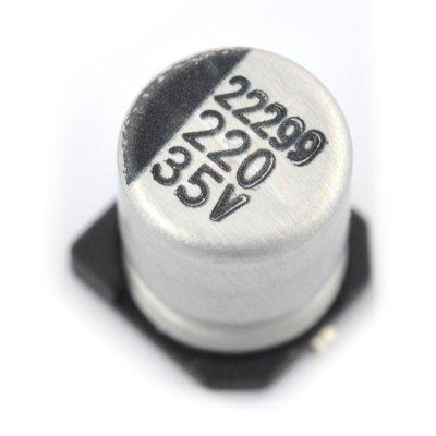 Kondensator elektrolityczny 220uF/35V SMD