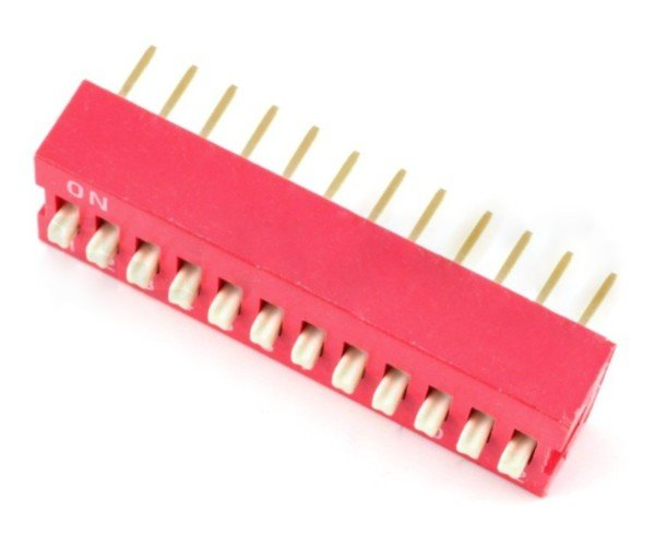 DIP switch 12-polowy