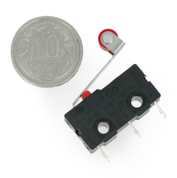 Wyłącznik czujnik krańcowy mini z rolką - WK625