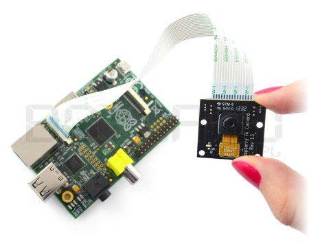 Moduł z kamerą kompatybilny z minikomputerem Raspberry Pi