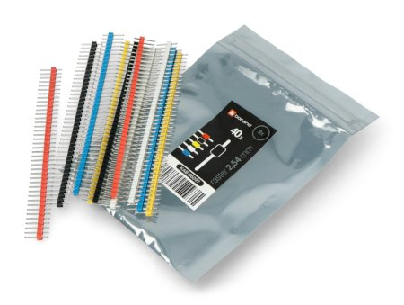 Zestaw goldpin 1x40 raster 2,54mm - różne kolory - 10szt.