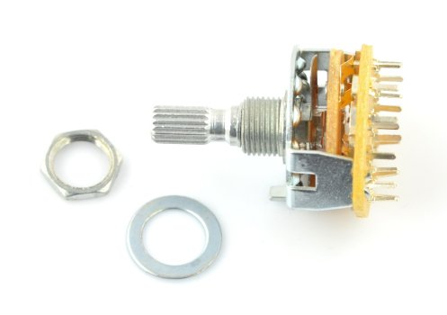 Rotary switch 3-position 4 circuits - 37mm