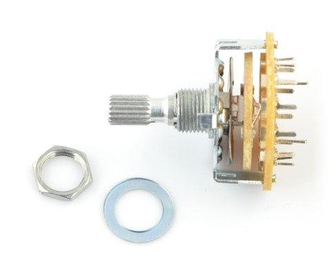 Przełącznik obrotowy 6-pozycji 2 obwody - 37mm