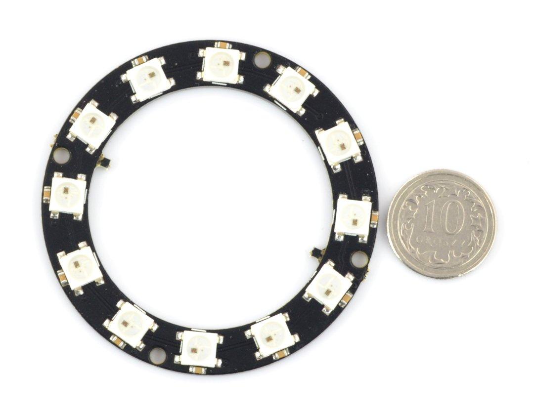LED RGB Ring WS2812B 5050 x 12 diodes - 50mm