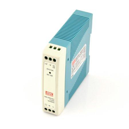 Zasilacz Mean Well MDR-10-5 na szynę DIN - 5V/2A/10W