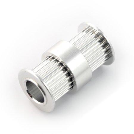 Koło zębate 20T- GT2 -  8 mm - podwójne.