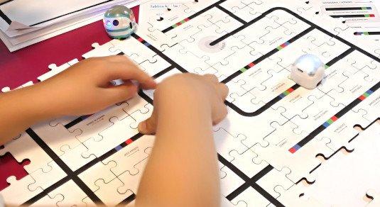 Ozobot - drewniane puzzle do nauki programowania