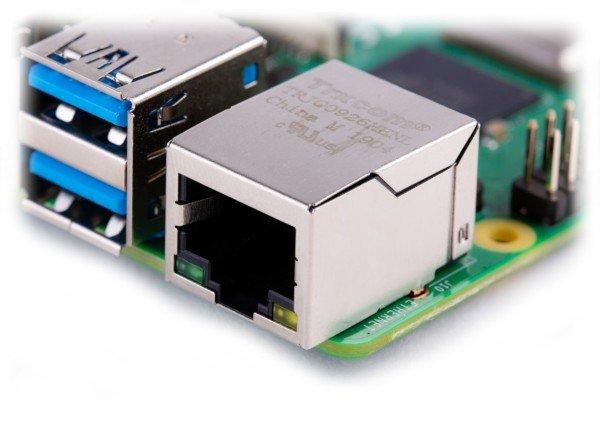 Raspberry Pi 4 - złącze Ethernet
