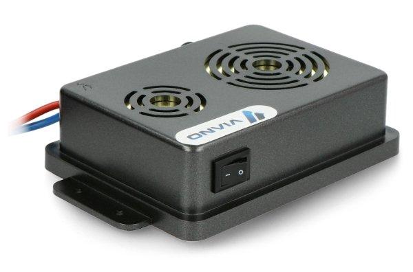 Odstraszacz posiada również przycisk umożliwiający wyłączenie urządzenia.