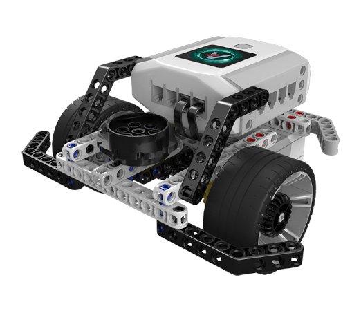 Robot balansujący wykonany przy użyciu elementów z zestawu