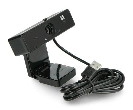 Kamera internetowa z przewodem USB o długości 1,5 m.