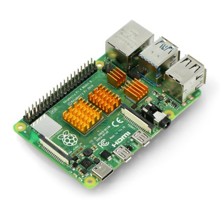 Zestaw radiatorów kompatybilnych z Raspberry Pi 4 złote 4 szt.