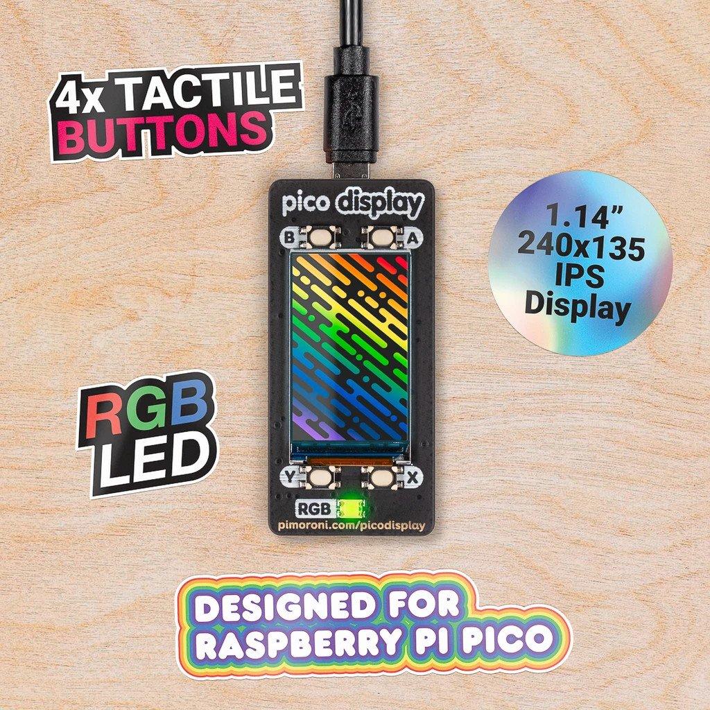 Nakładka z wyświetlaczem dla Raspberry Pi Pico