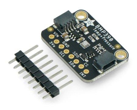W zestawie znajduje się także dedykowana listwa goldpin o rastrze 2,54 mm, która może być wykorzystana do połączenia czujnika.